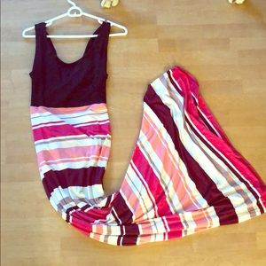 Stitch Fix Cross-Back Colored Maxi Dress